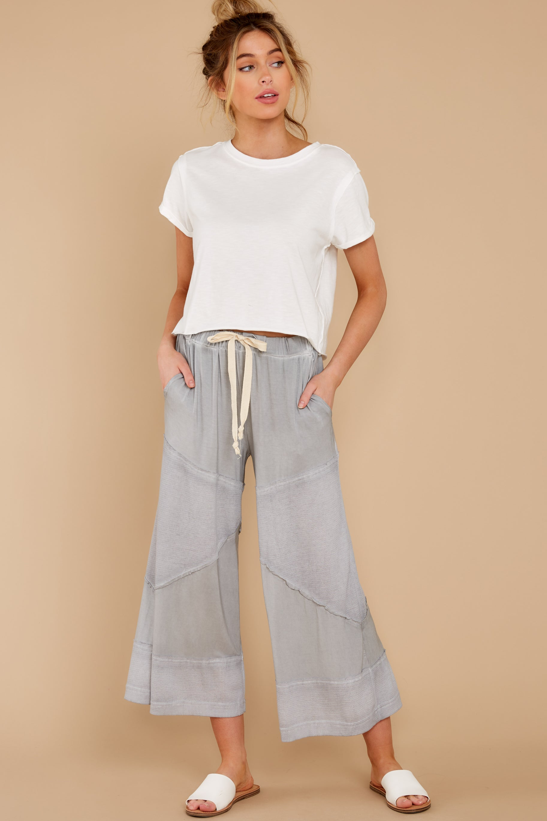 5 On The Other Side Dove Grey Pants at reddress.com