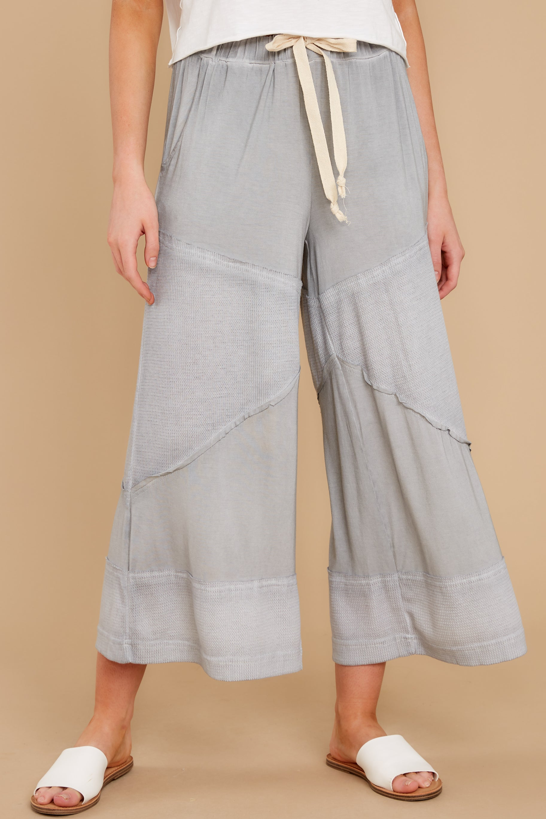 1 On The Other Side Dove Grey Pants at reddress.com