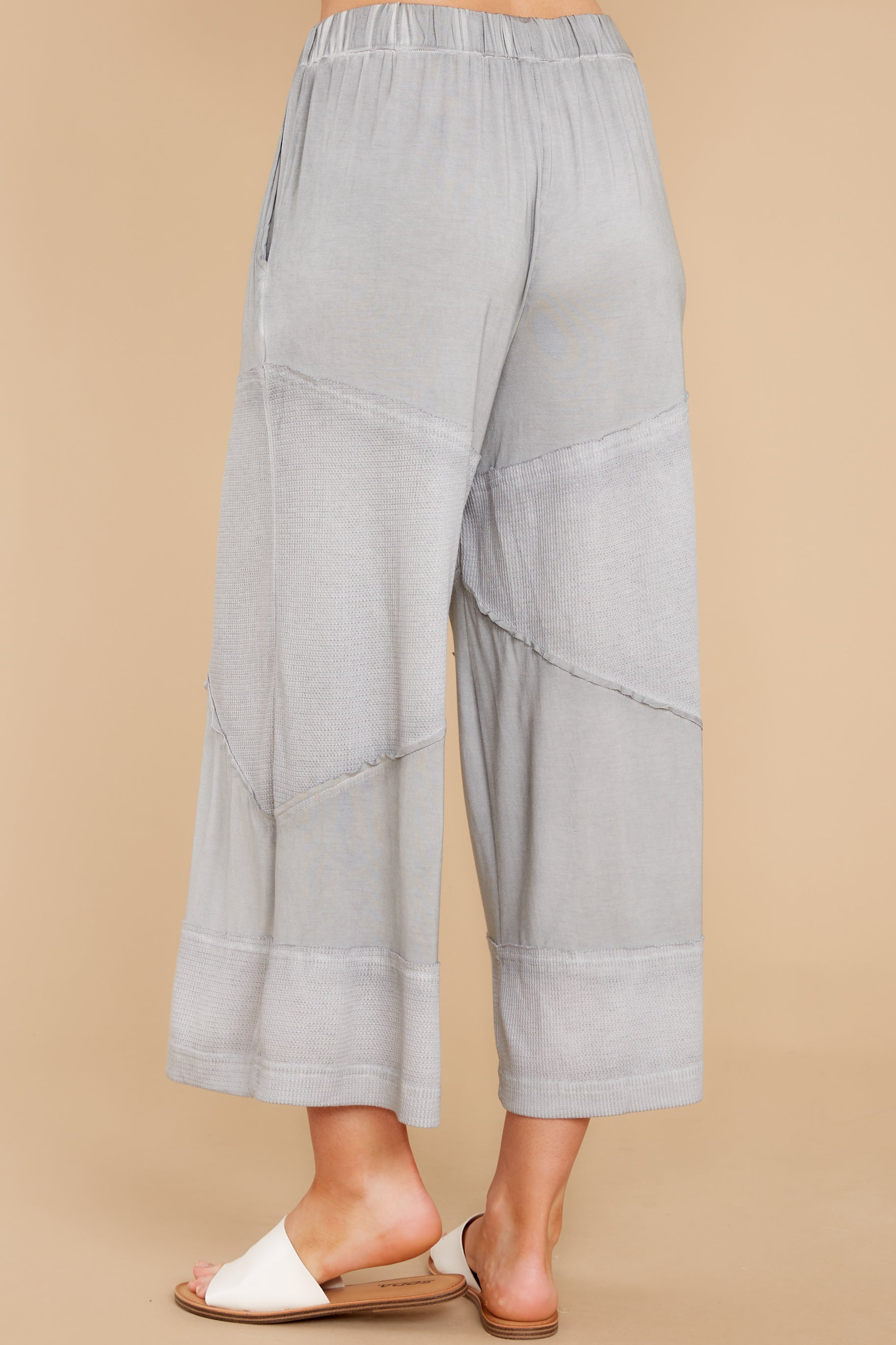 4 On The Other Side Dove Grey Pants at reddress.com