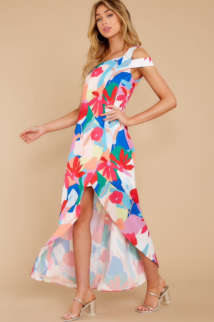1 Every Fairytale Navy Multi Floral Print Maxi Dress at reddress.com