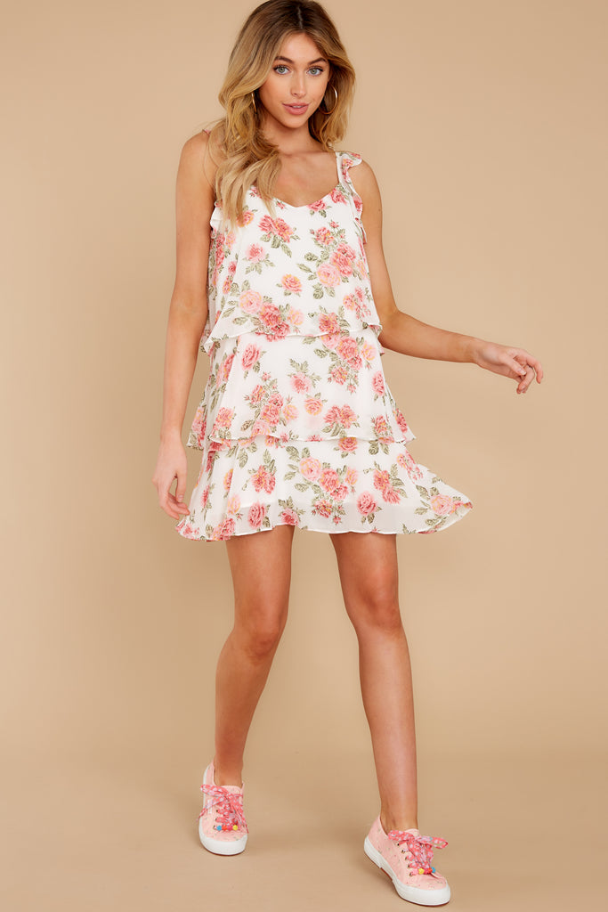 6 Curious Hearts Pink Floral Print Dress at reddress.com