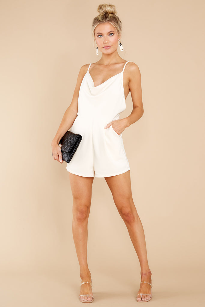 1 Powerful Thing Ivory Romper at reddress.com
