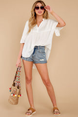 4 Keep In Mind White Top at reddress.com