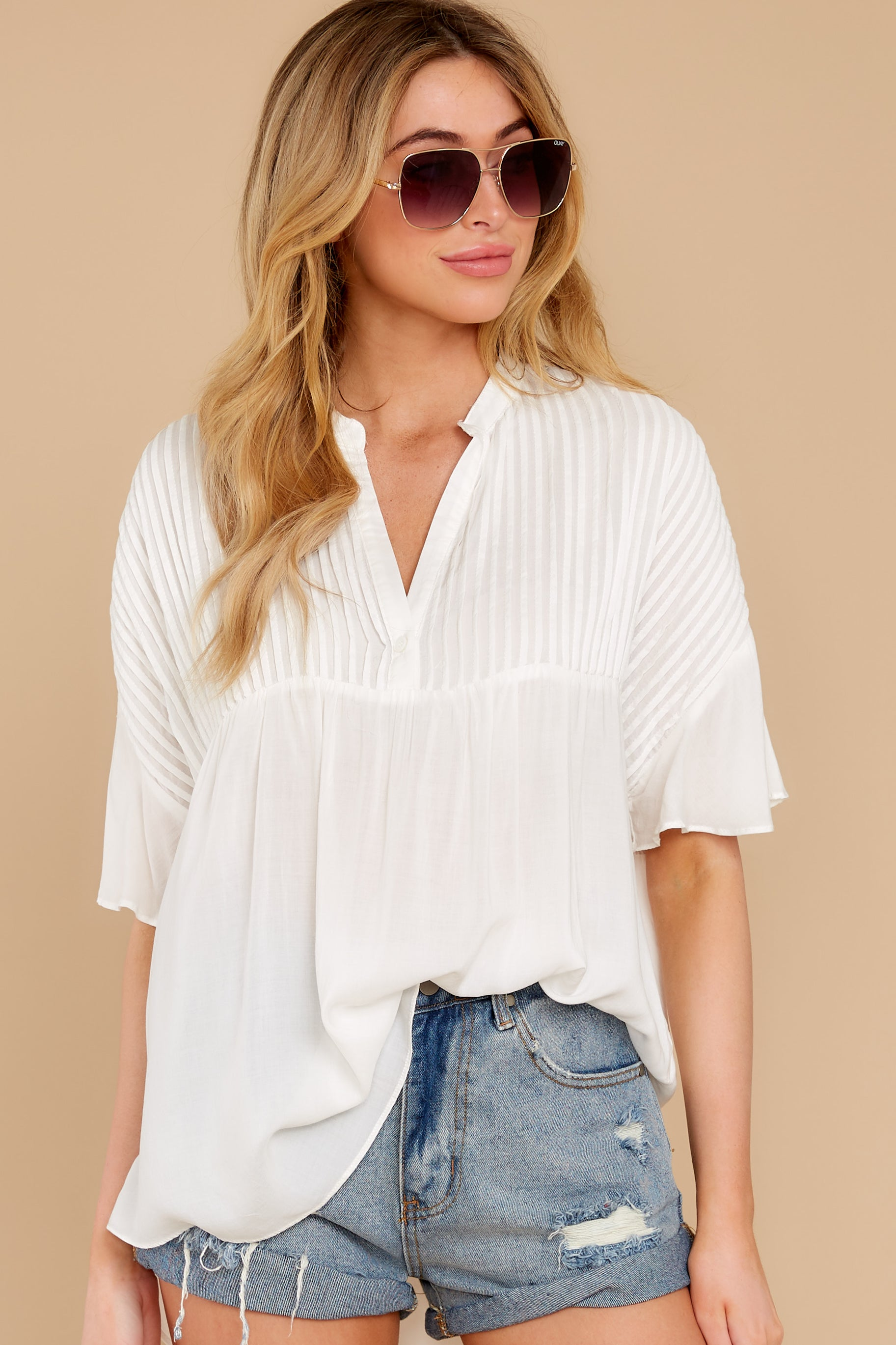 5 Keep In Mind White Top at reddress.com