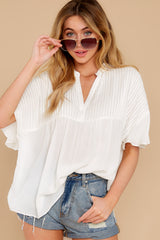 1 Keep In Mind White Top at reddress.com