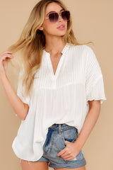6 Keep In Mind White Top at reddress.com
