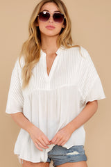 7 Keep In Mind White Top at reddress.com