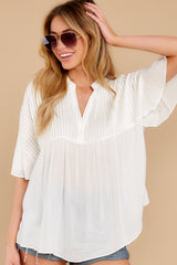 8 Keep In Mind White Top at reddress.com