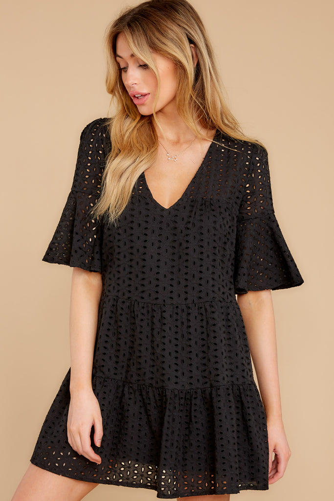 6 A Little Diddy Black Romper at reddressboutique.com