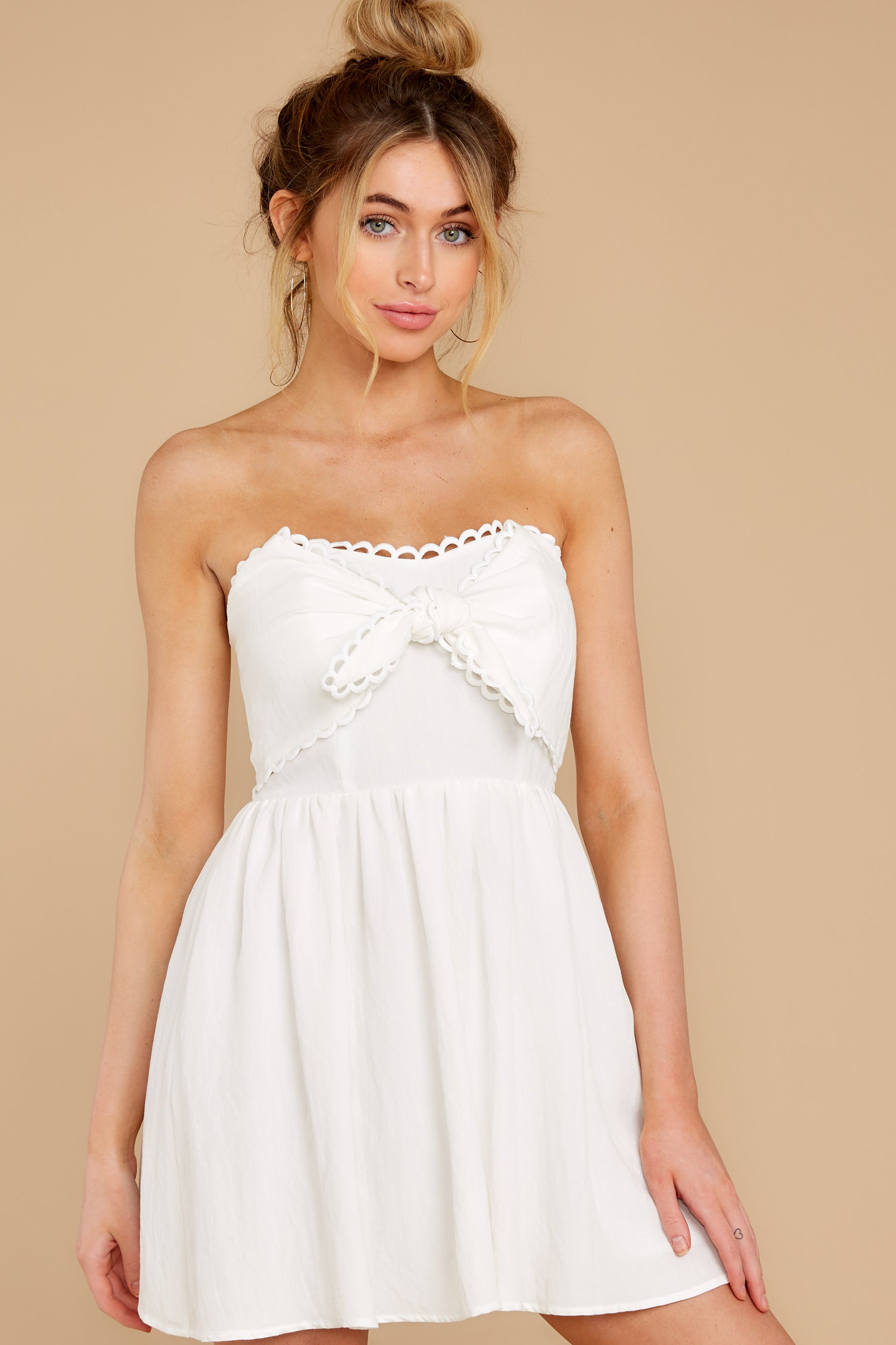 7 Touch Of Magic White Dress at reddress.com
