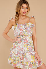 7 Picking Wildflowers White Floral Print Dress at reddress.com