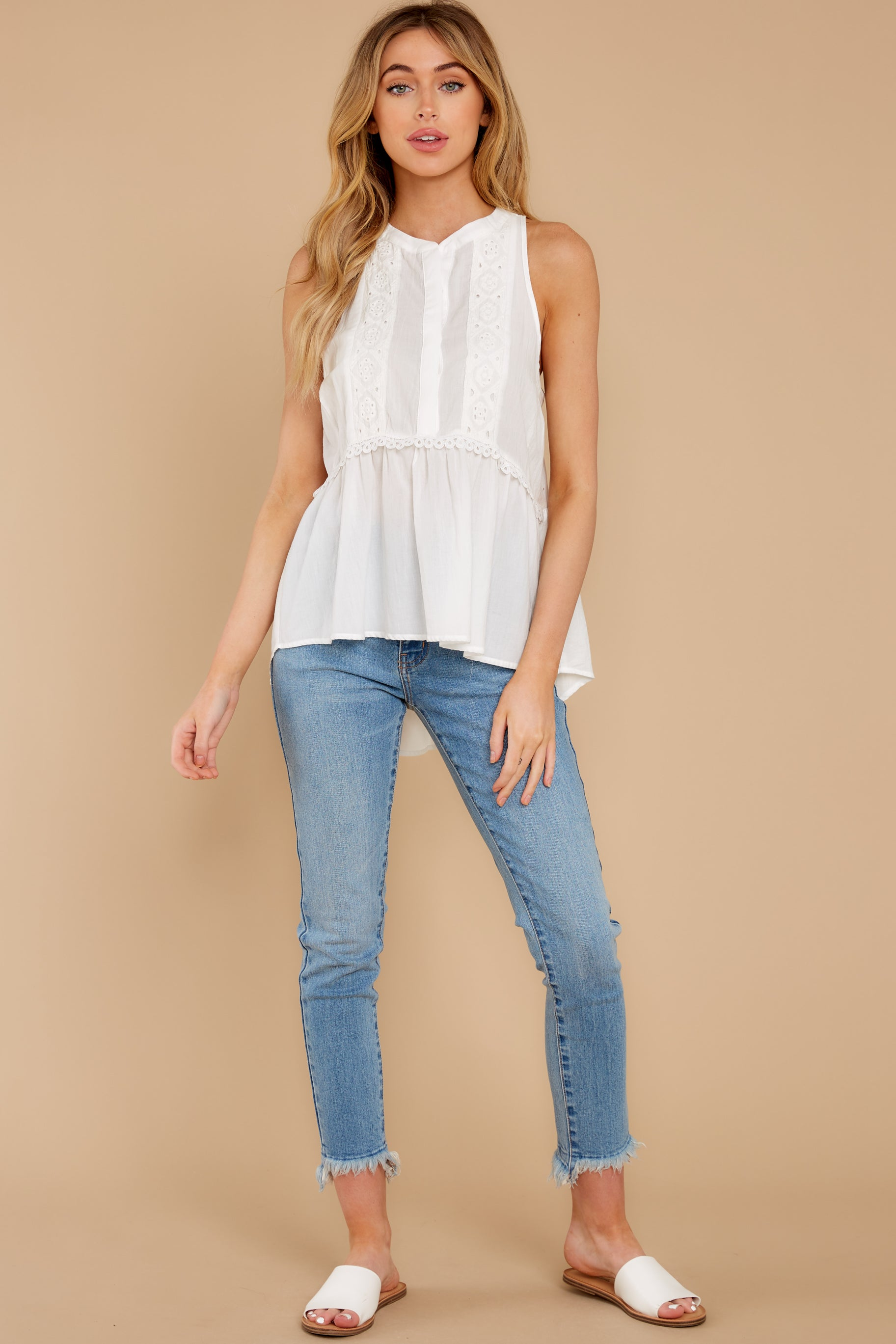 2 Angelic Whispers White Lace Top at reddress.com