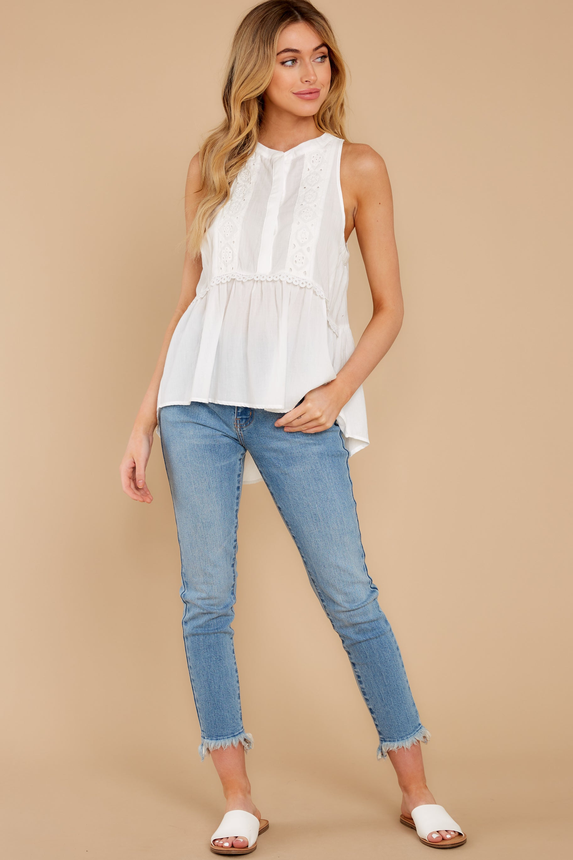 4 Angelic Whispers White Lace Top at reddress.com