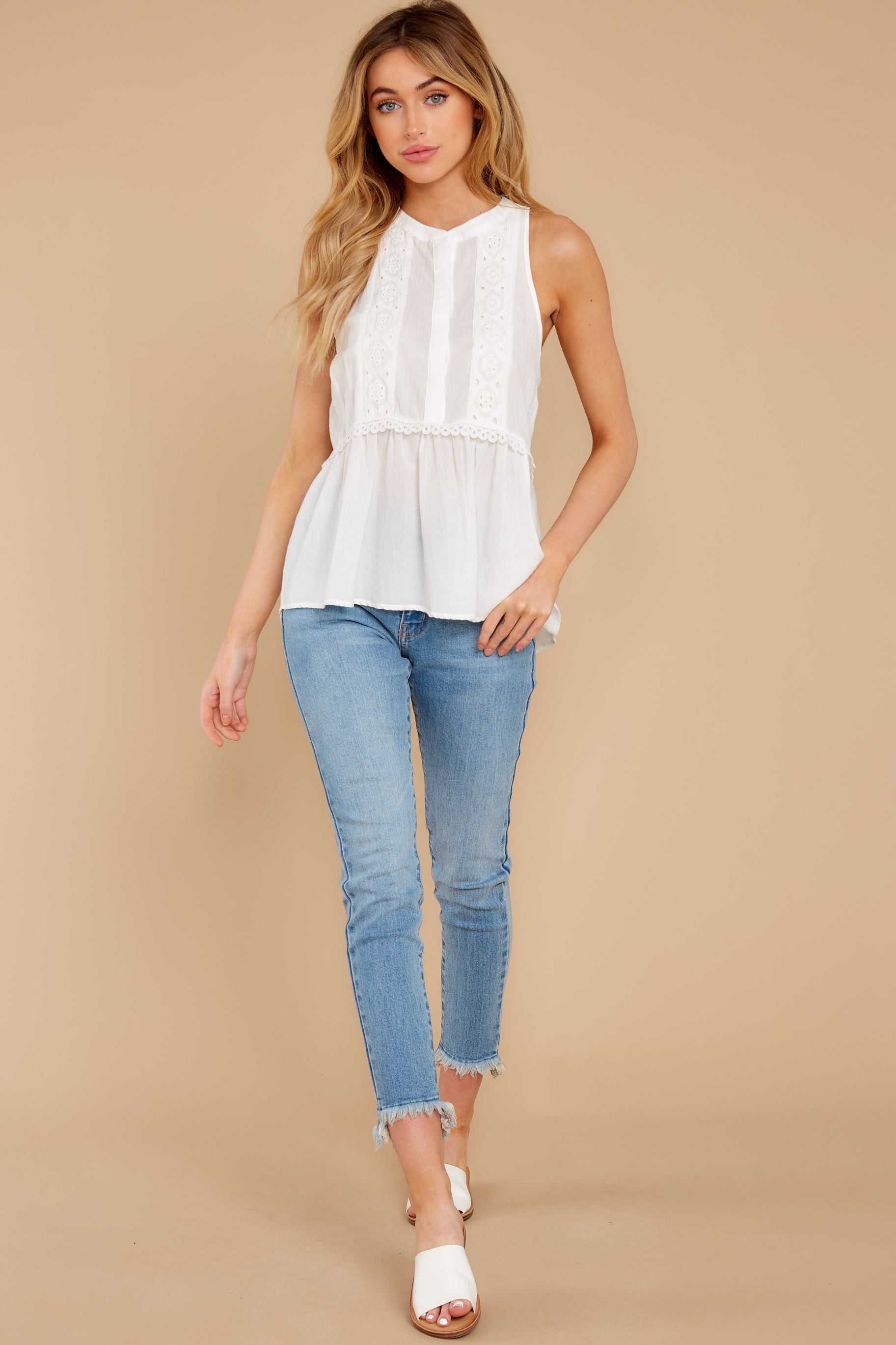 3 Angelic Whispers White Lace Top at reddress.com