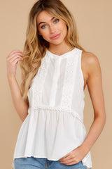 6 Angelic Whispers White Lace Top at reddress.com