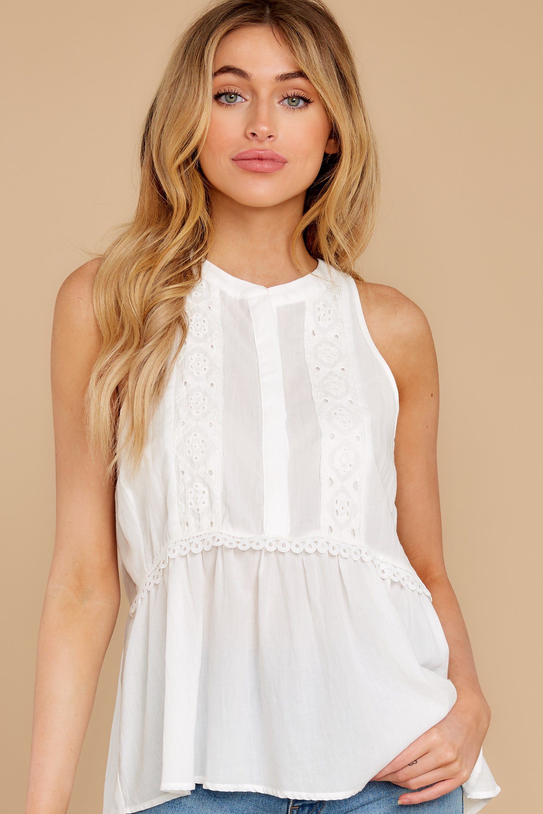 1 Angelic Whispers White Lace Top at reddress.com