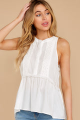 5 Angelic Whispers White Lace Top at reddress.com