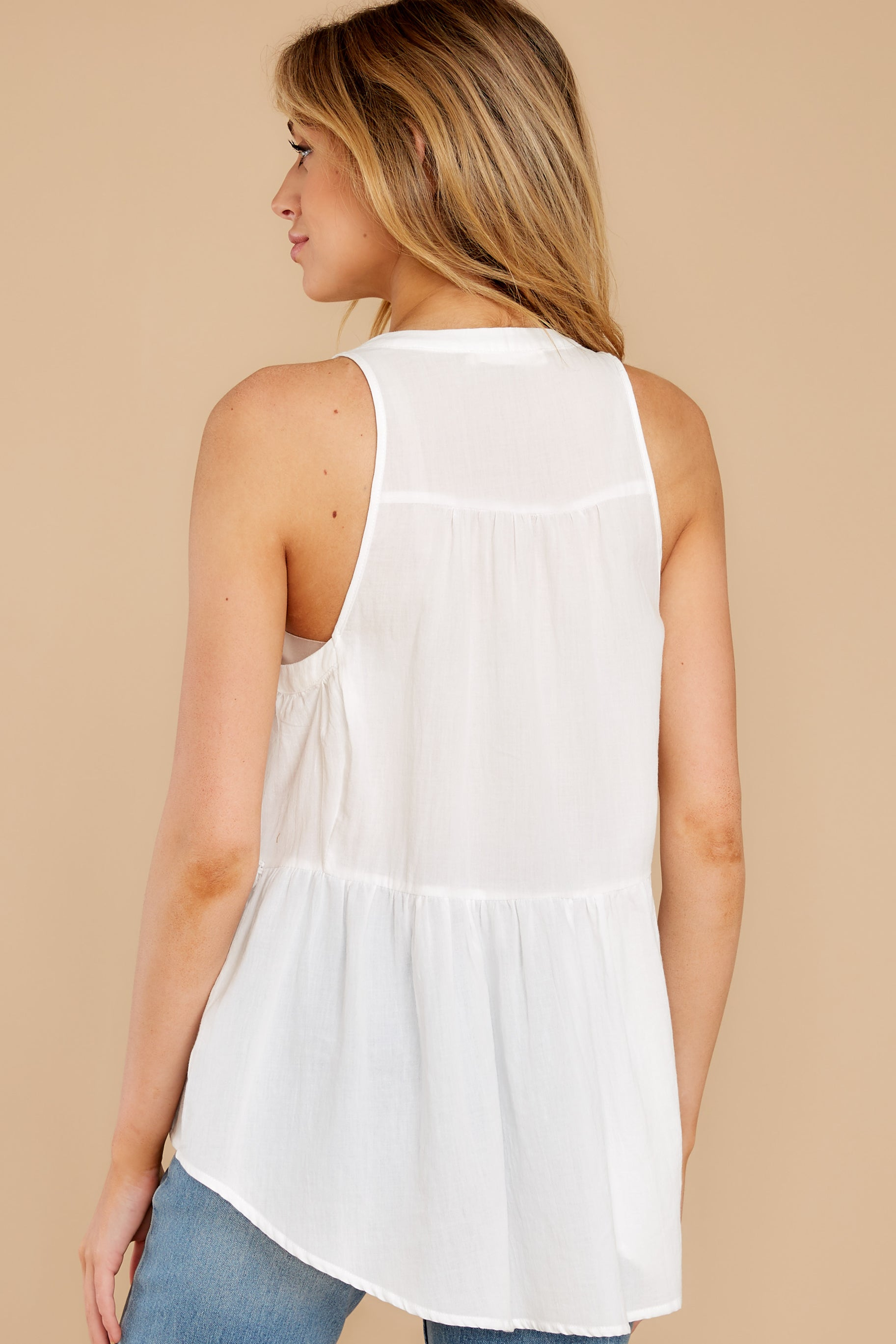 7 Angelic Whispers White Lace Top at reddress.com