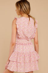 7 Spin Me Baby Pink Multi Floral Print Dress at reddress.com