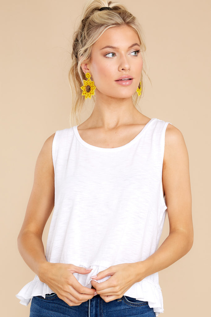 1 Sunset Strolls White Top at reddress.com