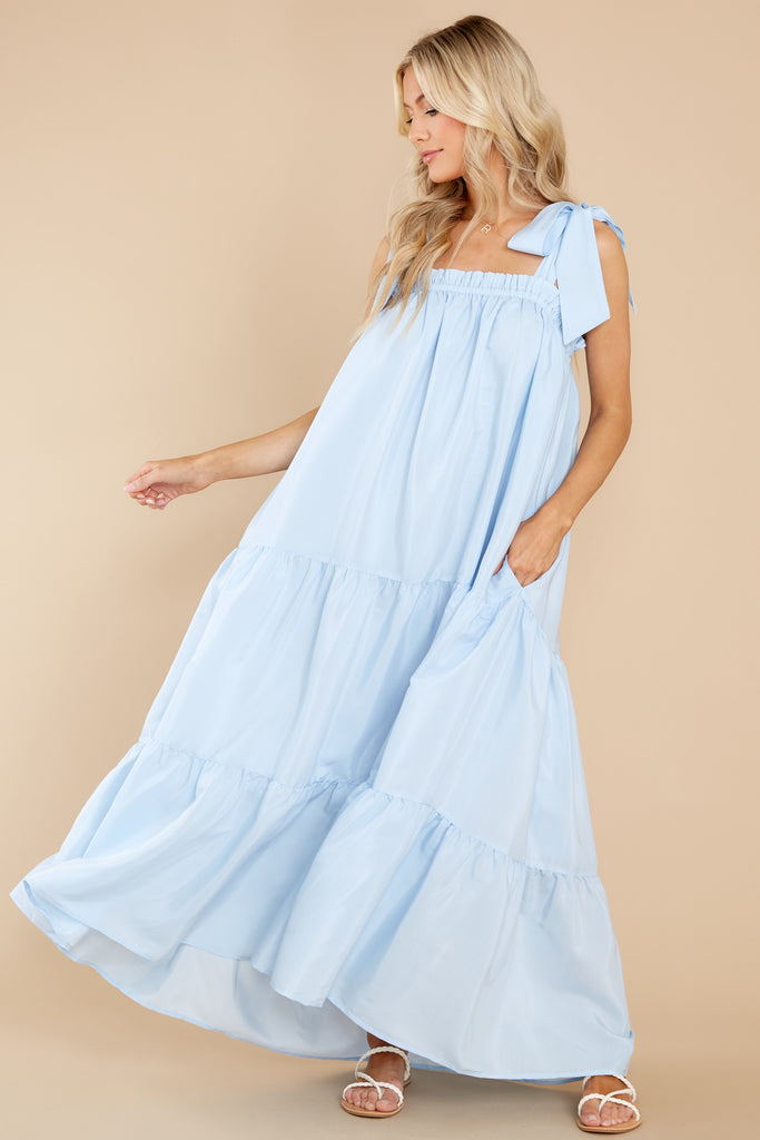 1 Starry Skies Light Blue Maxi Dress at reddress.com