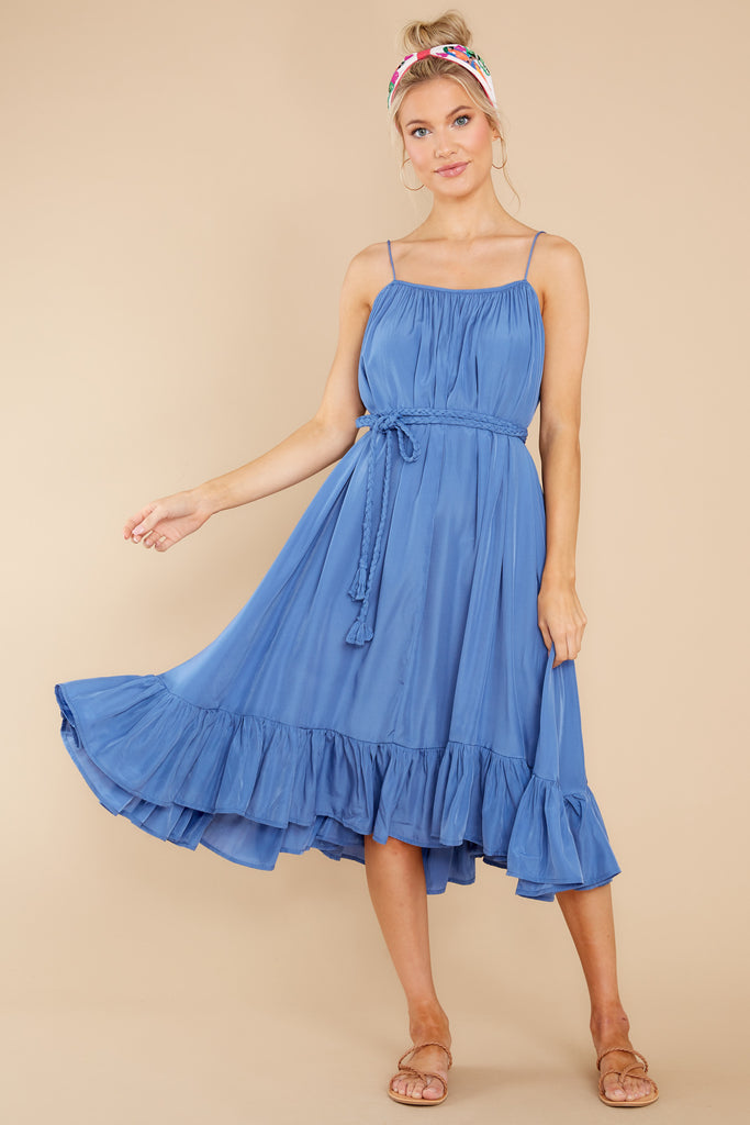 1 Pure Feeling Bright Blue Midi Dress at reddress.com