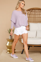 Like A Melody Lavender Tunic Top