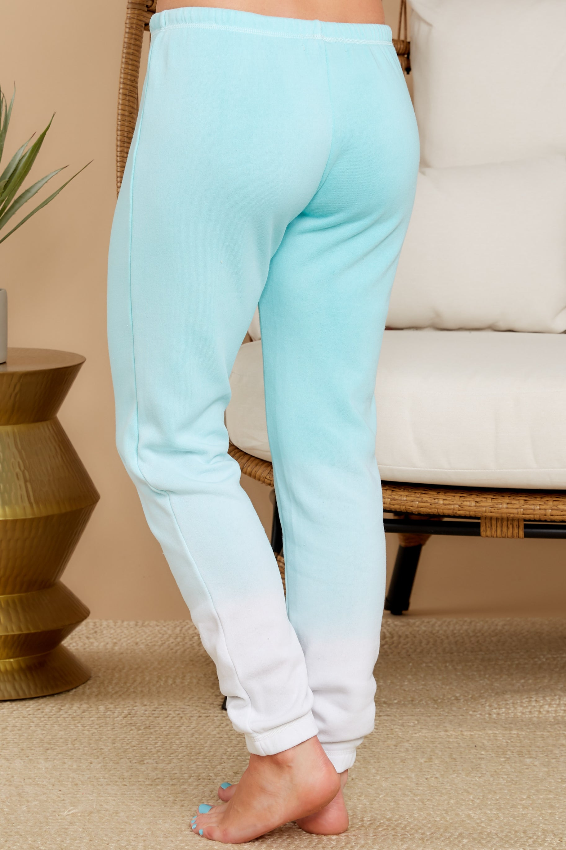 3 Feels Like Heaven Atlantis Blue Ombre Joggers at reddress.com