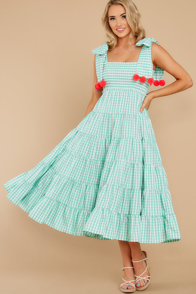 1 Right About You Lavender And White Gingham Dress at reddress.com