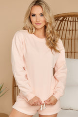 5 Weekend Retreat Peach Beach Sweatshirt at reddress.com