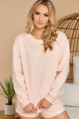 7 Weekend Retreat Peach Beach Sweatshirt at reddress.com