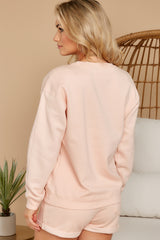 8 Weekend Retreat Peach Beach Sweatshirt at reddress.com