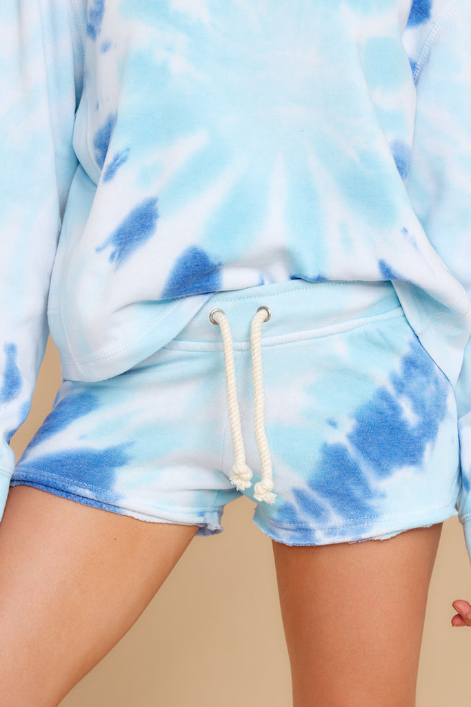 1 Summer Of '69 Sky Blossom Tie Dye Shorts at reddress.com