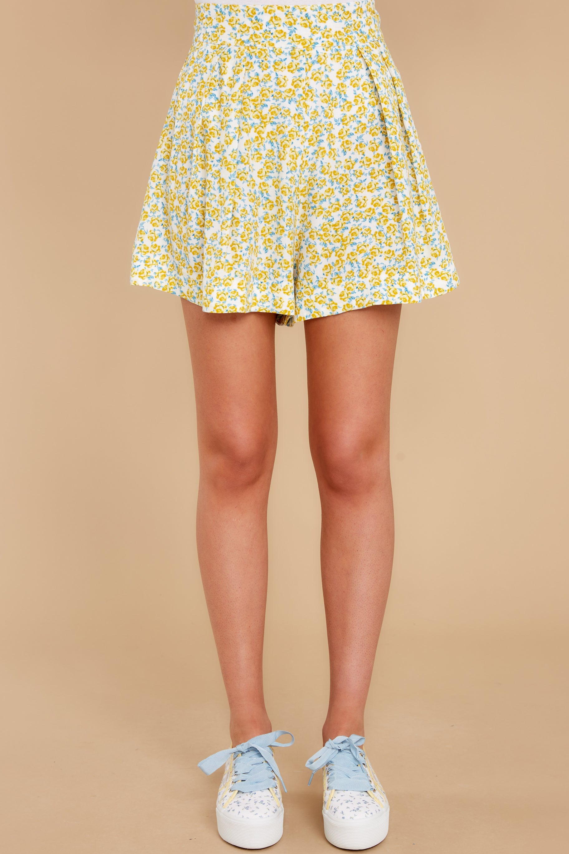 2 My Flawless Yellow Floral Print Skirt at reddress.com