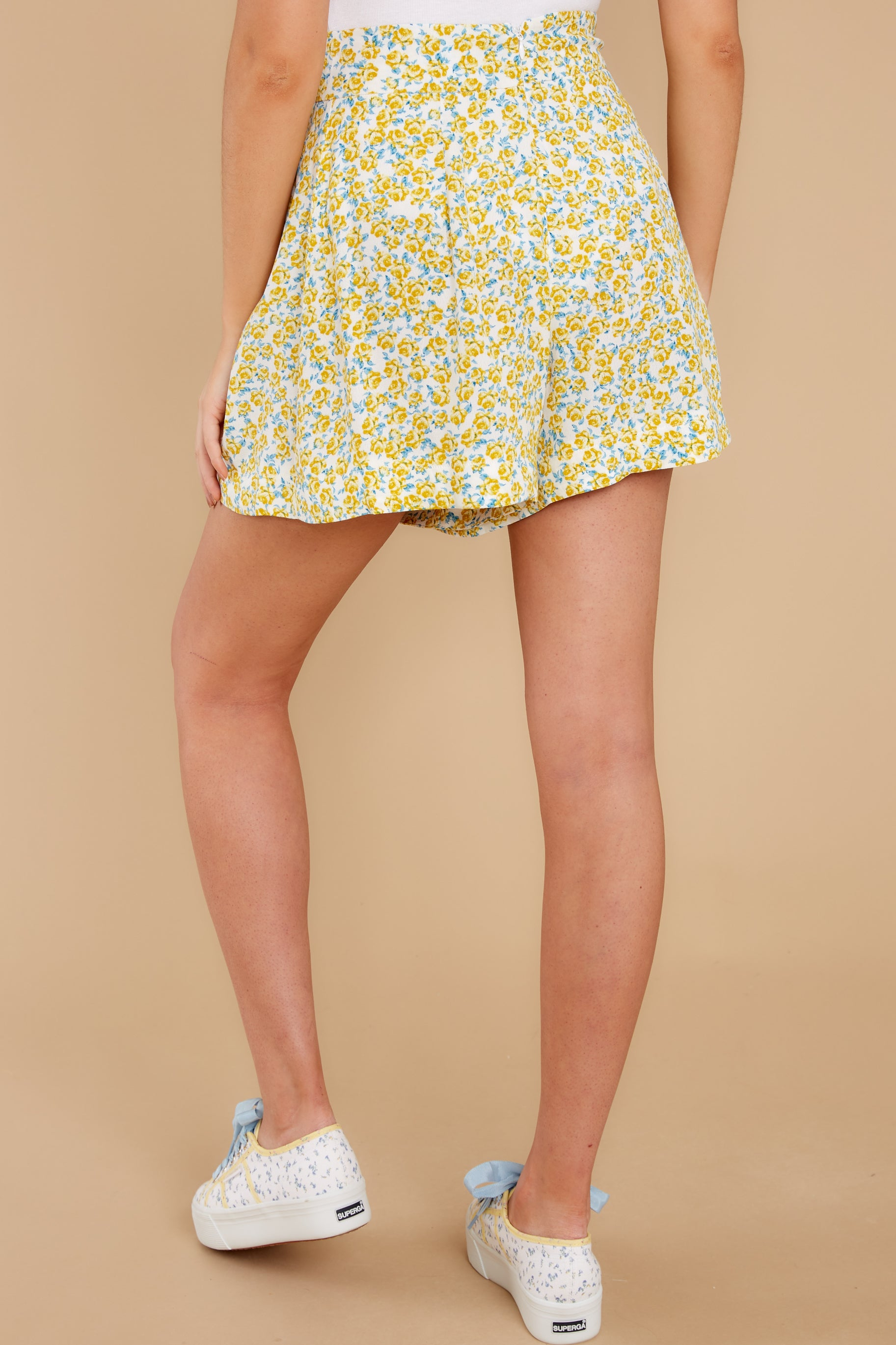 3 My Flawless Yellow Floral Print Skirt at reddress.com