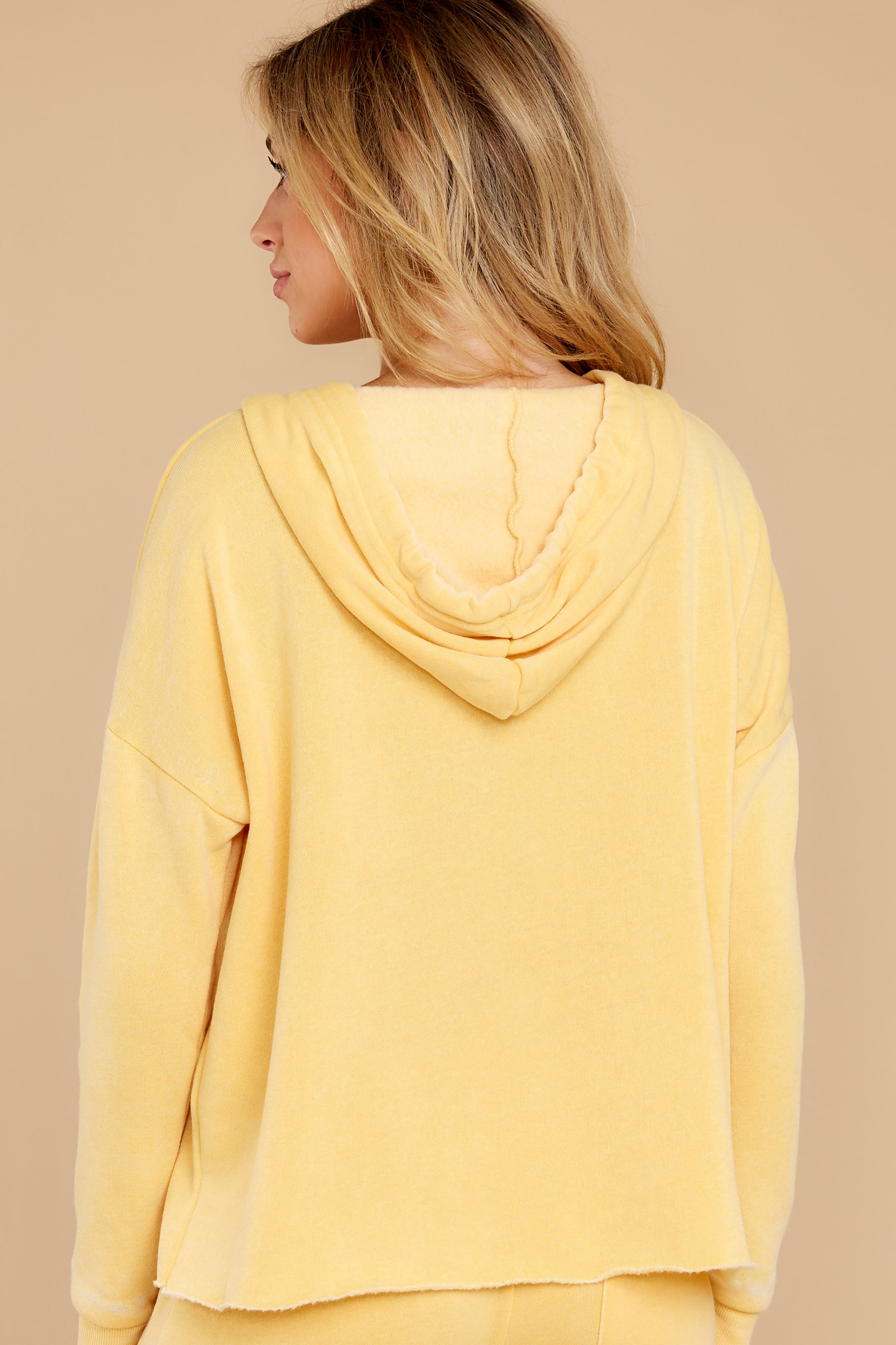 Cuddle Me Crazy Sunflower Yellow Hoodie