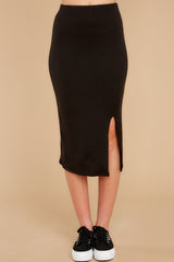 In The End Black Midi Skirt