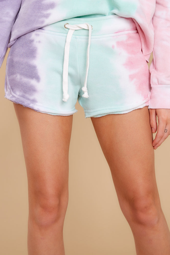 1 Summer Of '69 Neon Multi Tie Dye Shorts at reddress.com