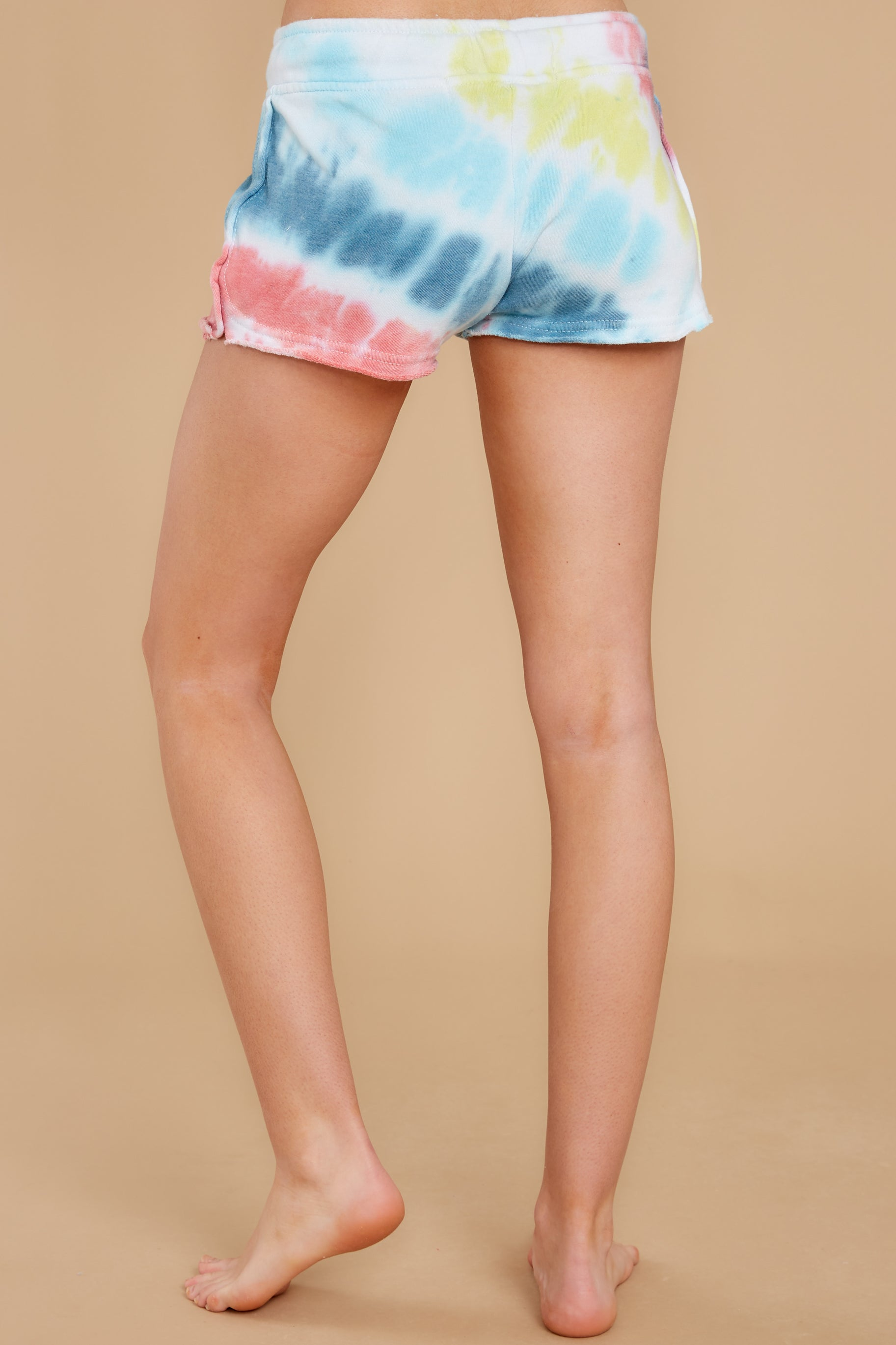 Trip To Paradise Aloha Blue Multi Tie Dye Shorts