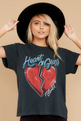 7 Blondie Heart of Glass Tour Black Tee at reddress.com