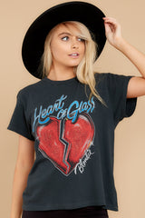 8 Blondie Heart of Glass Tour Black Tee at reddress.com