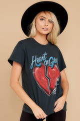 6 Blondie Heart of Glass Tour Black Tee at reddress.com