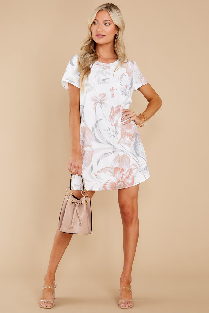 1 Serenity Multi Floral Tee Dress at reddress.com