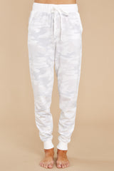 2 Camo Dove Grey Joggers at reddress.com