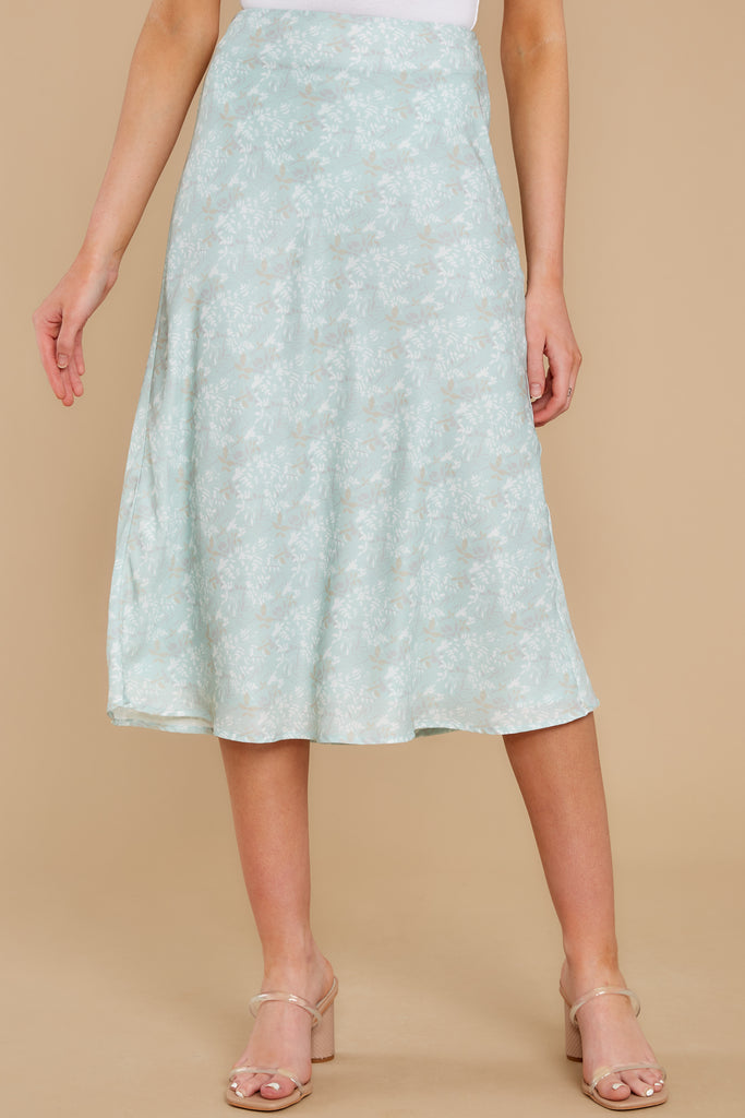 3 Adore It Sky Blue Floral Print Skirt at reddress.com
