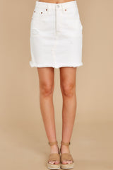 3 Iconic Skirt in Pearly White at reddress.com