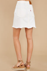 4 Iconic Skirt in Pearly White at reddress.com