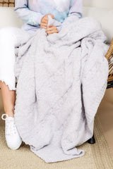 The Cozychic® Heathered Oyster Beige Cable Blanket