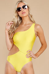 1 Find A Wave Yellow One Piece Swimsuit at reddress.com