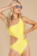 7 Find A Wave Yellow One Piece Swimsuit at reddress.com